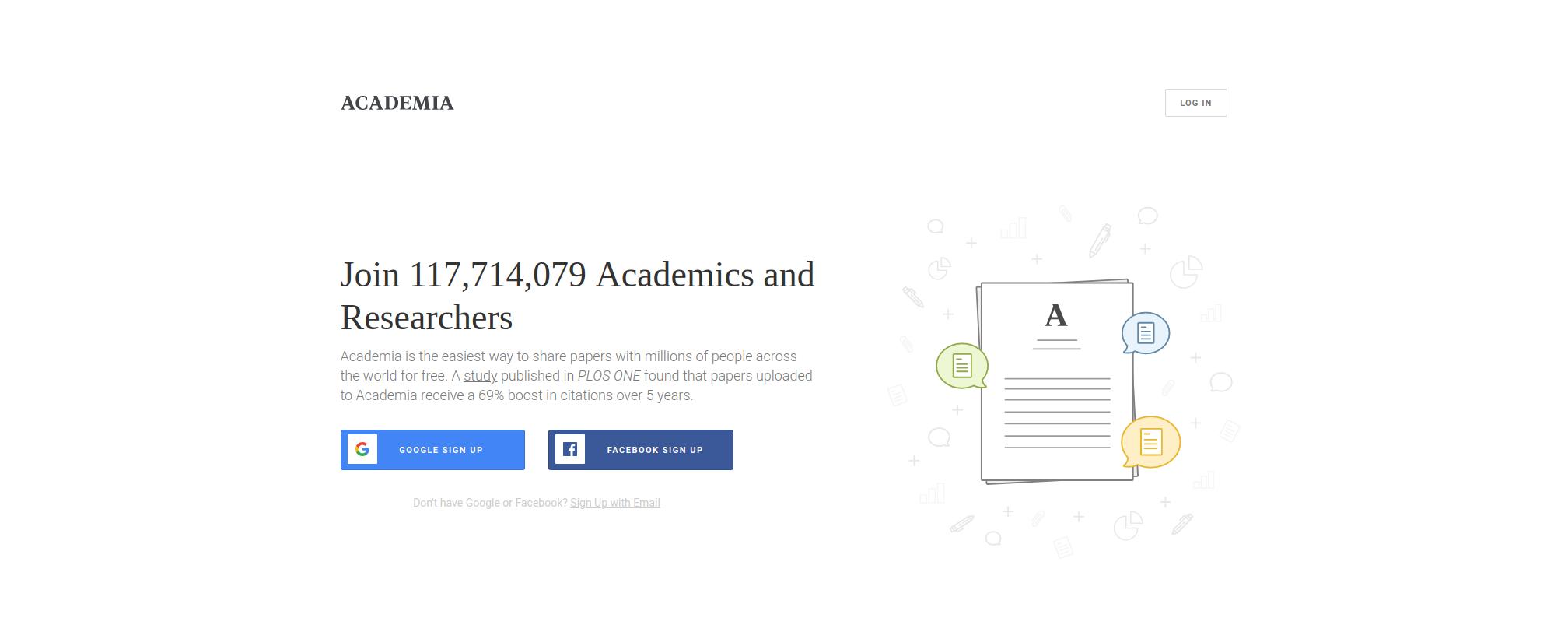 Academia homepage