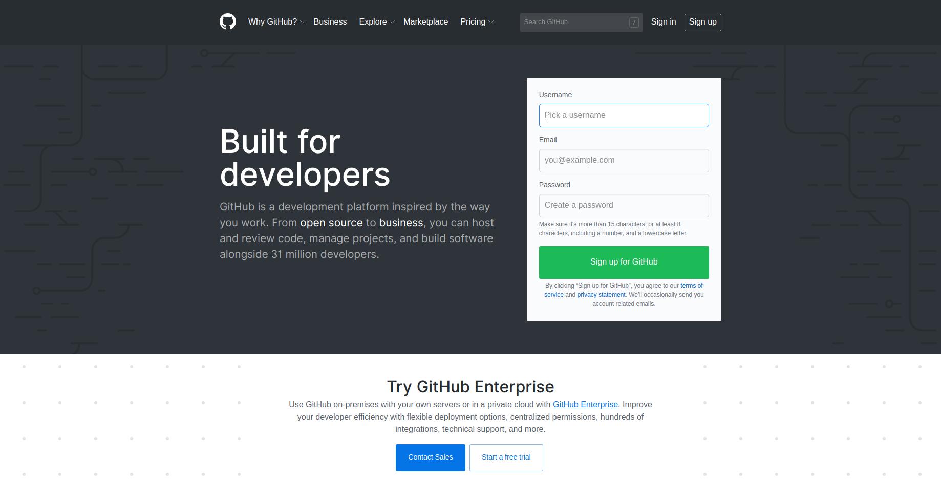 Git Hub screenshot