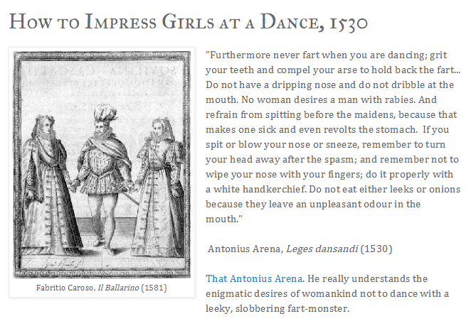 Ask the Past How to Impress Girls at a Dance 1530