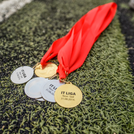 Medals for the winning team