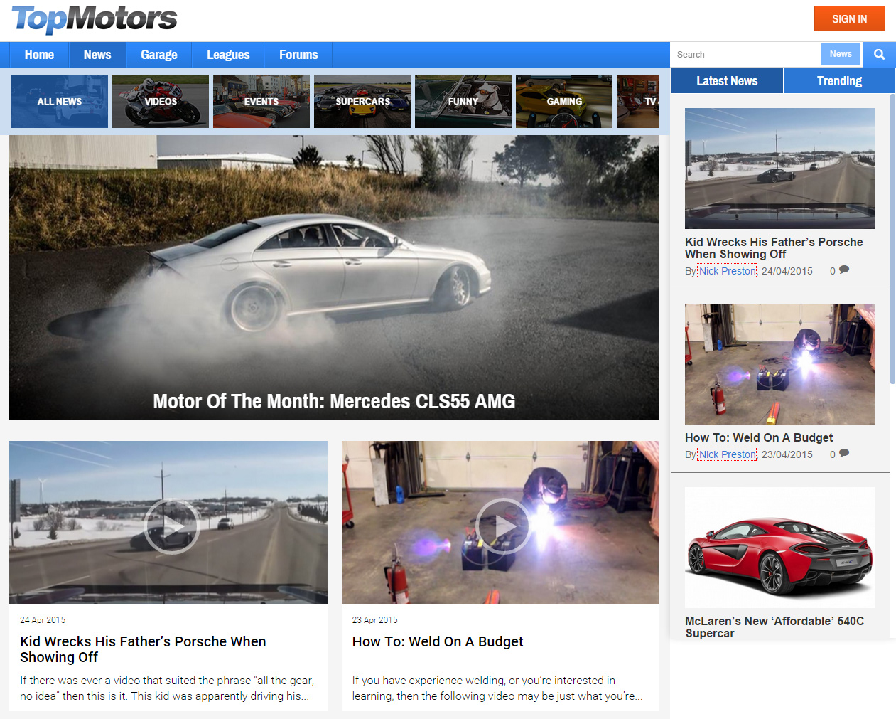 Top Motors News