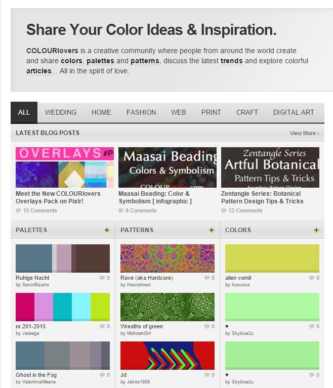 Color Trends Palettes COLOURlovers
