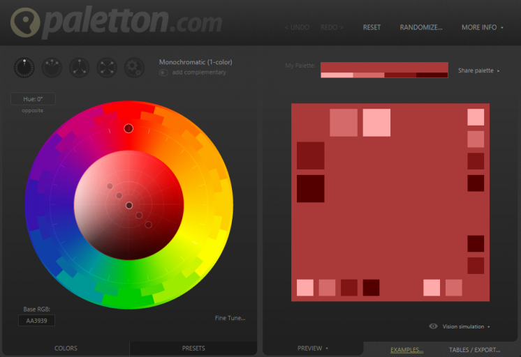 Paletton The Color Scheme Designer