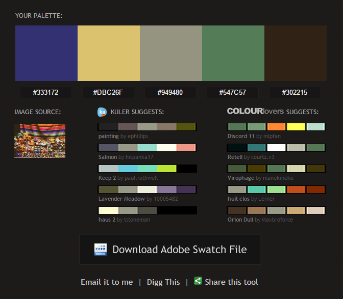 Pictaculous A Color Palette Generator courtesy of MailChimp