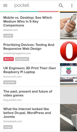 Pocket screenshot 2 Android