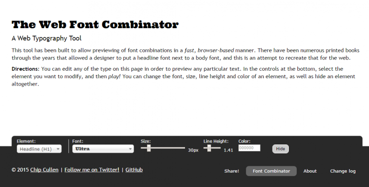 The Web Font Combinator A Web Typography Tool