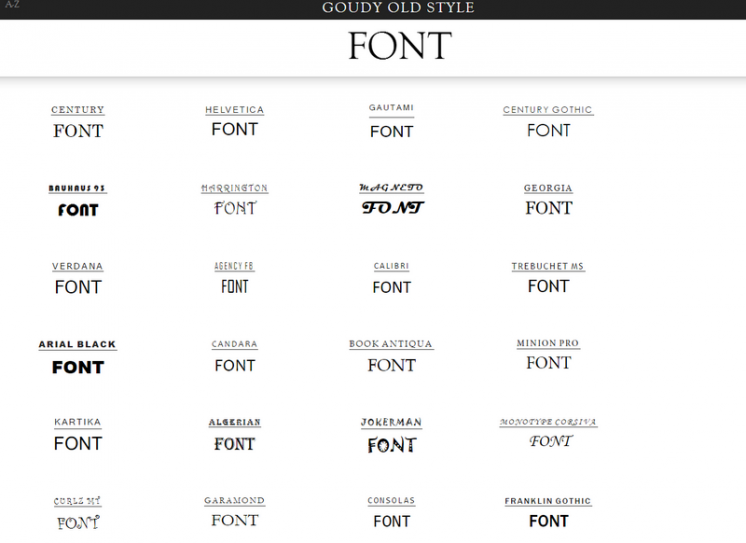 flipping typical compare the fonts you have
