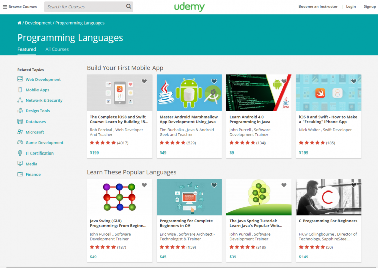 Programming Languages Online Courses From Java to Ruby Udemy
