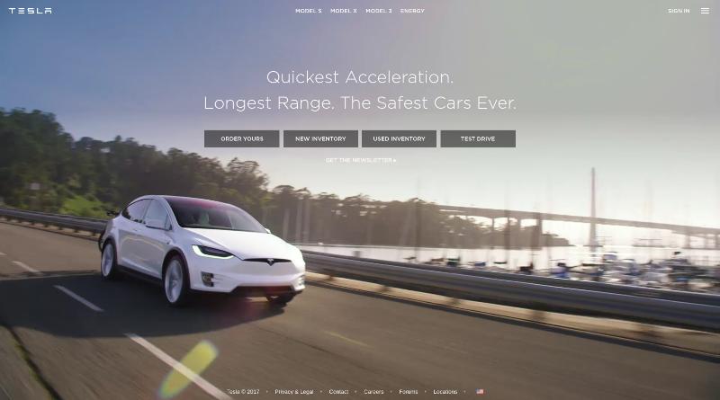 Top Drupal websites - Tesla