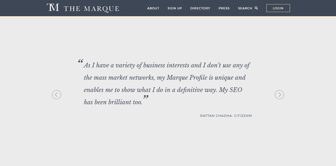 The Marque business network