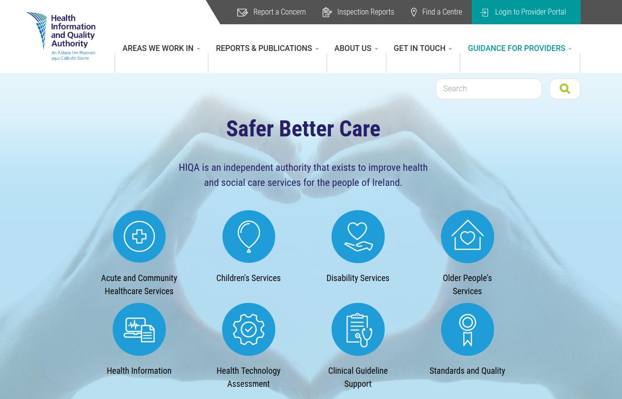 Ireland healthcare website built on Drupal