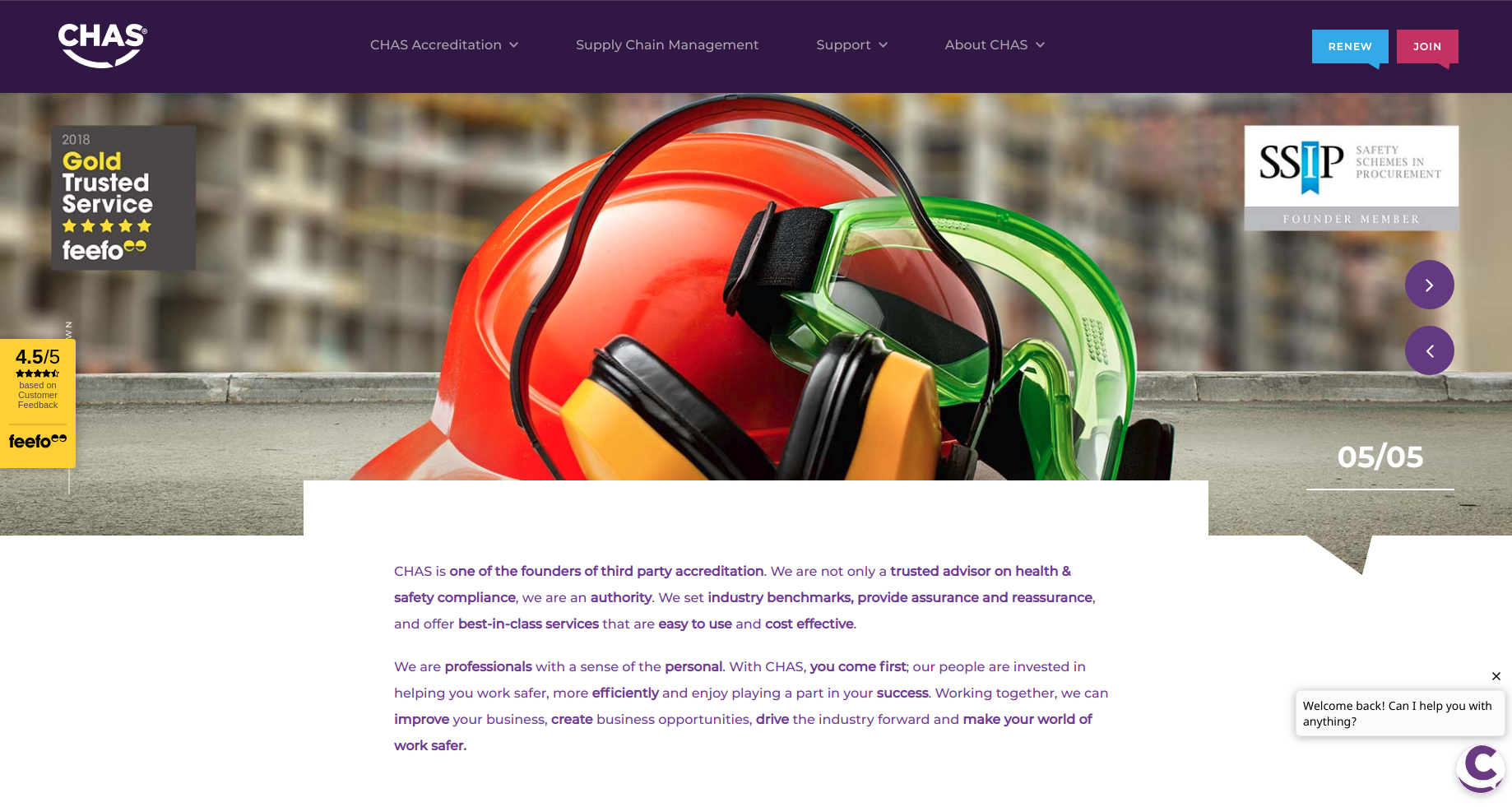 CHAS redesign home page