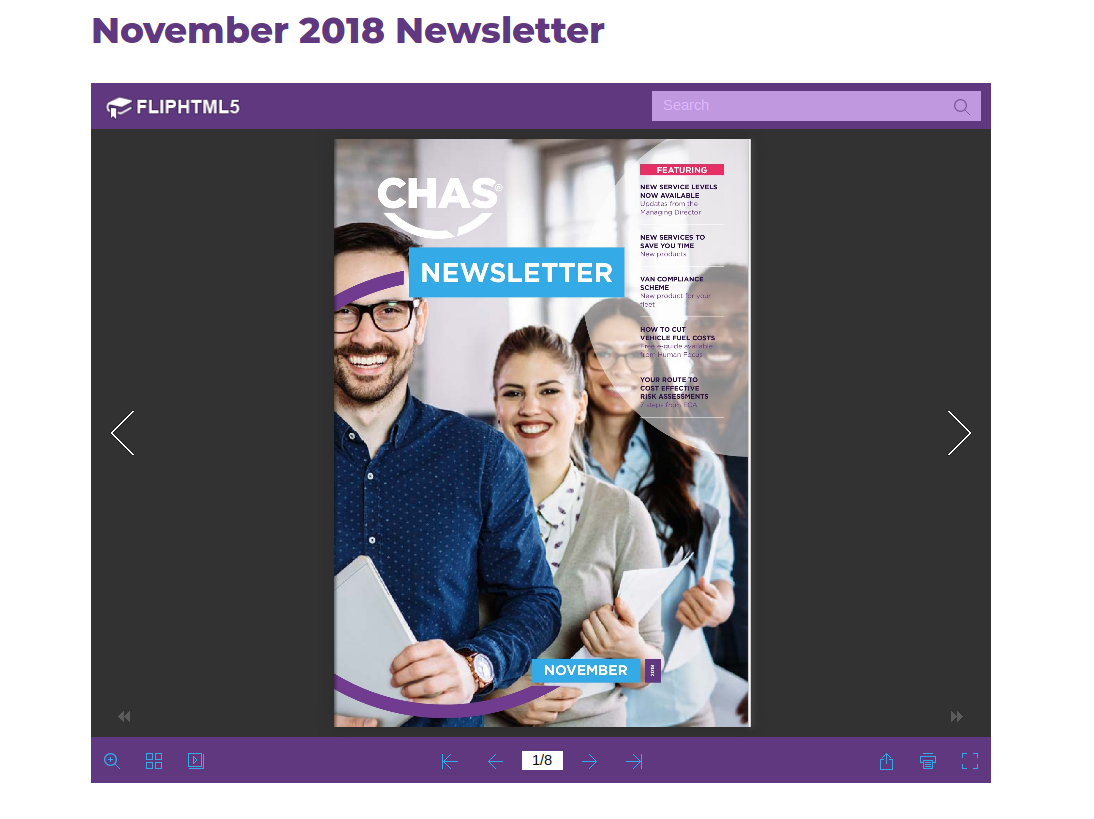 CHAS website redesign - PDF Viewer