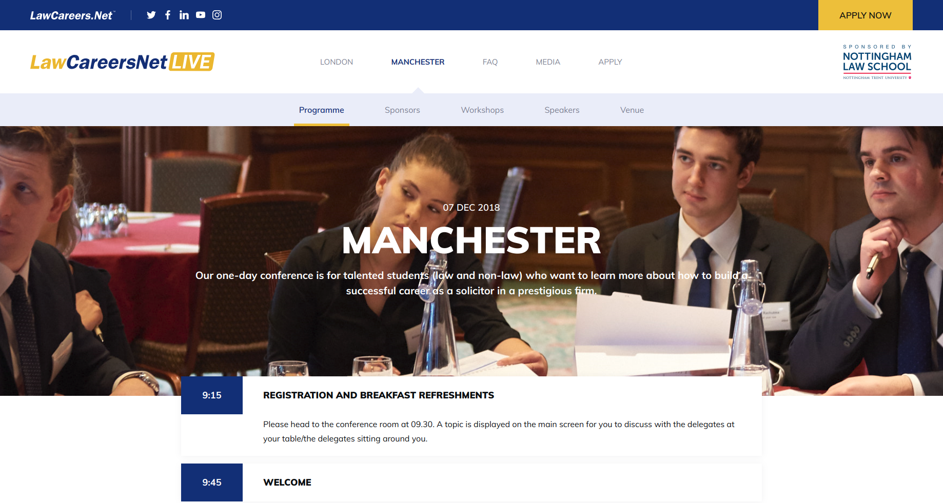 LawCareers Event Website