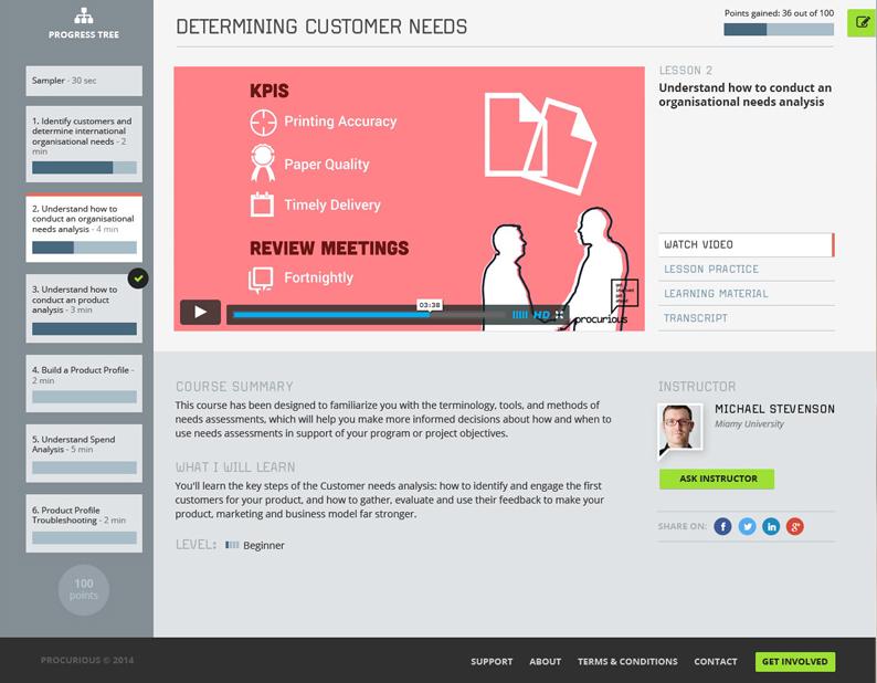 design for e-learning platform