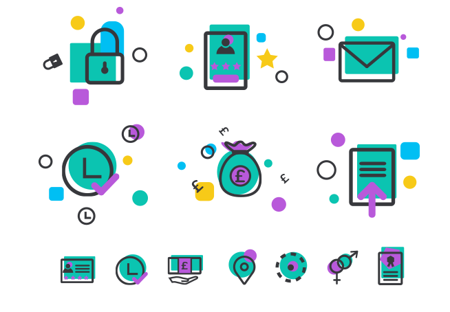 icons in e-learning platform