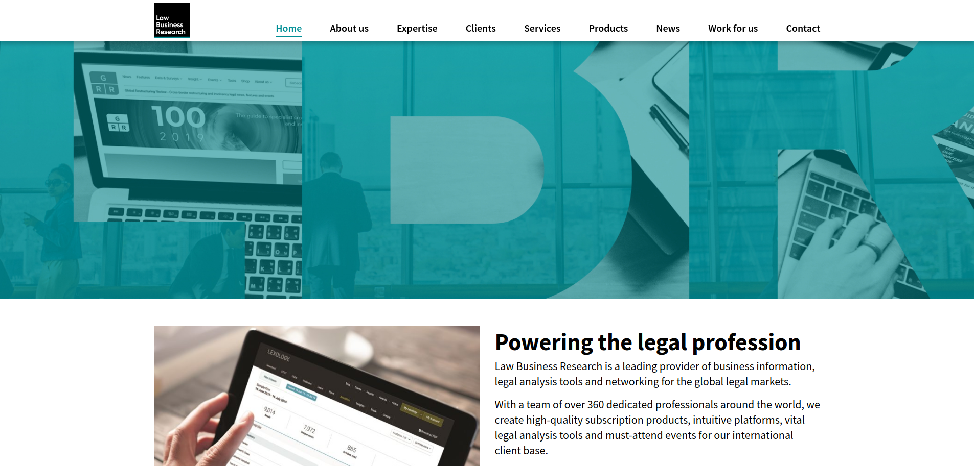 Law Business Research homepage