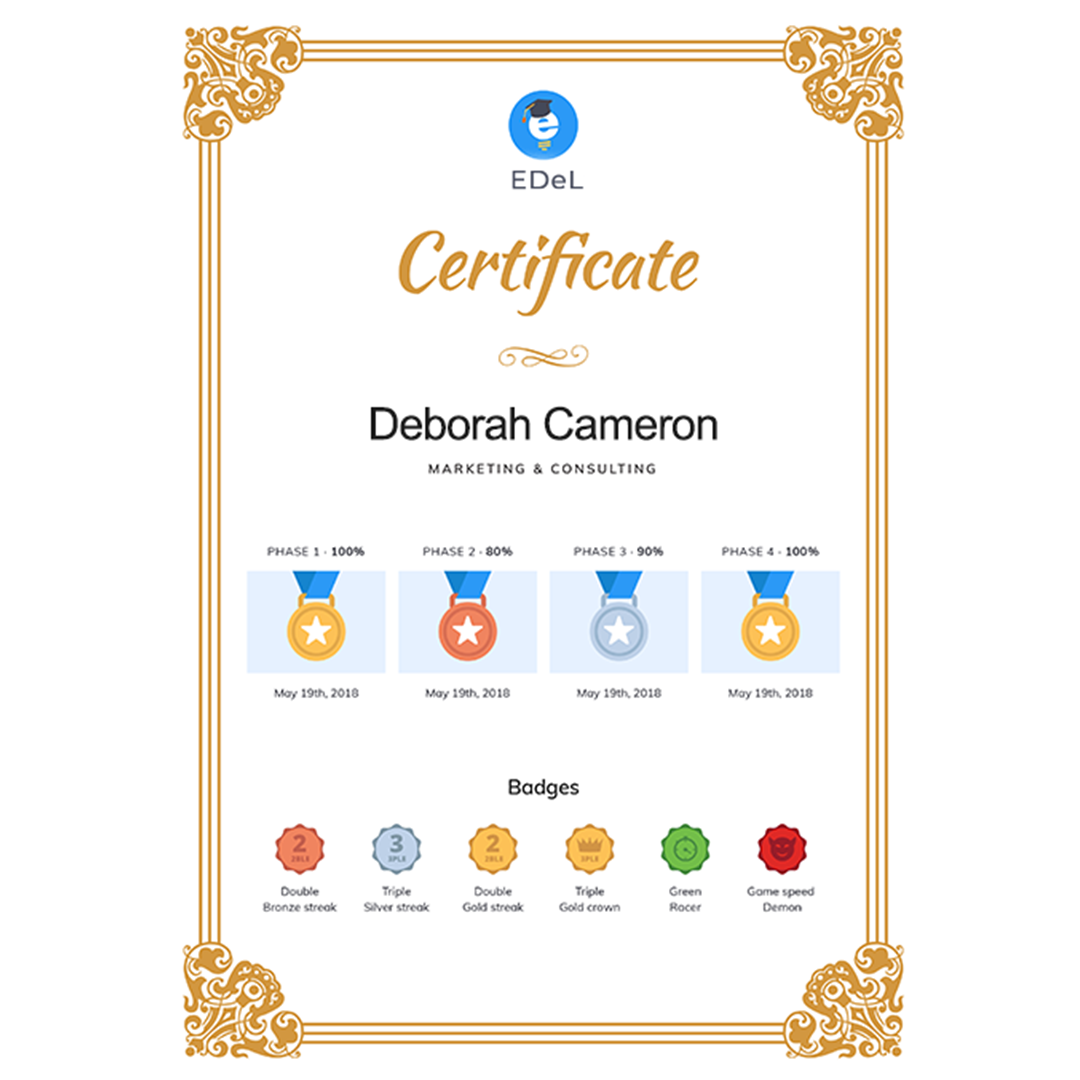 certificates in micro learning platforms