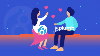 Drupal 8 and jsPlumb