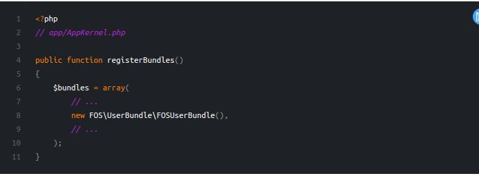 FOSUser Bundle