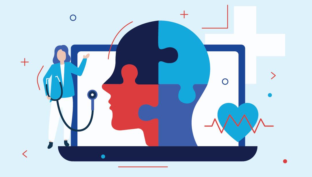 eLearning for Mental Health illustration