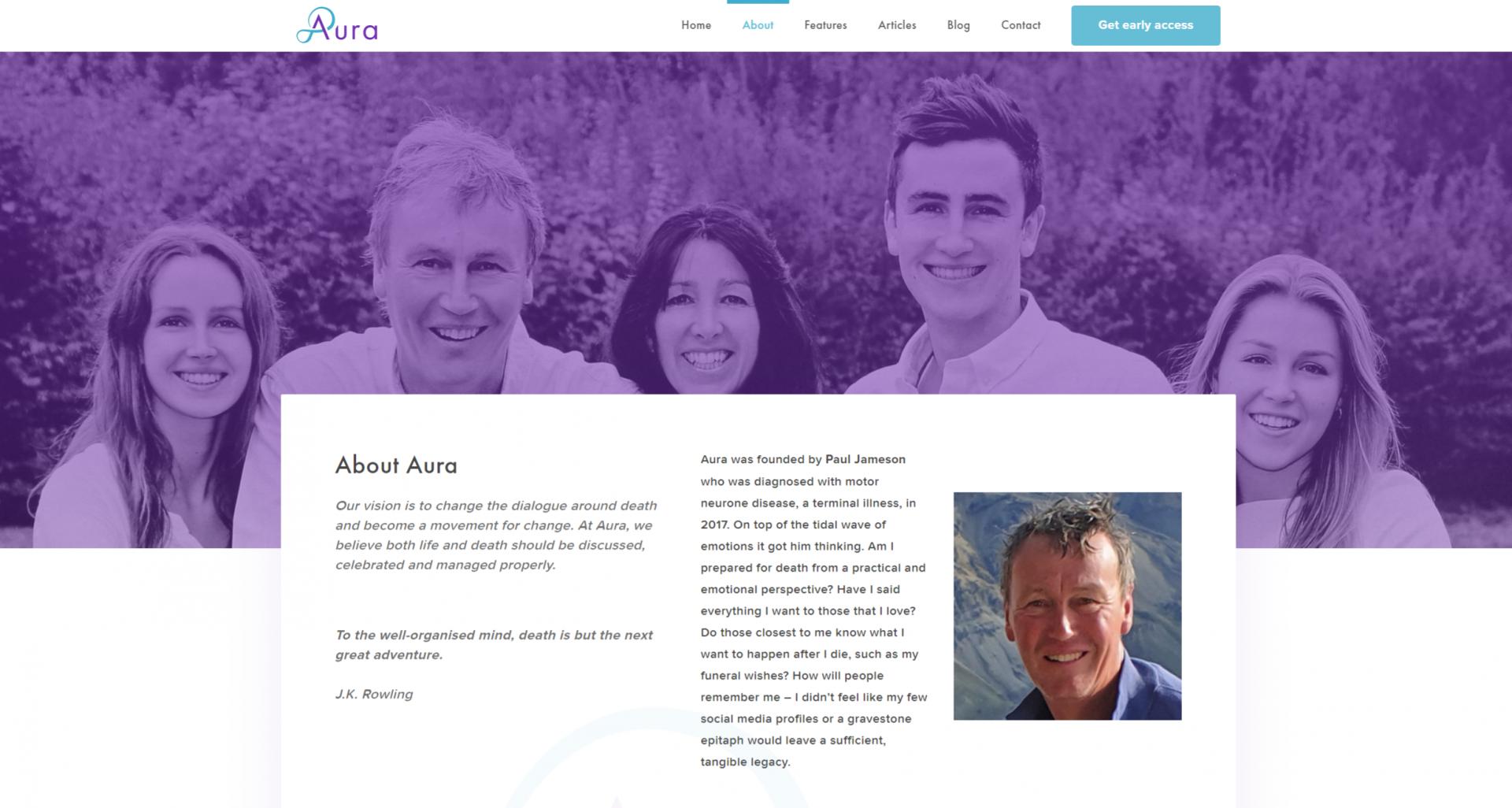 aura homepage
