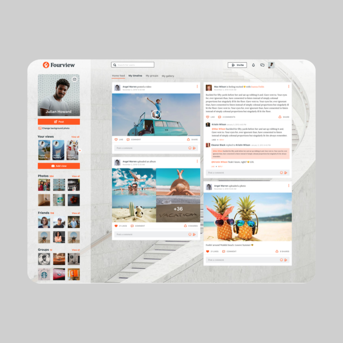 Fourview social media platform