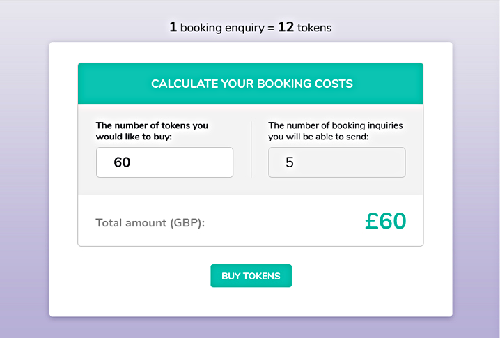Calculate booking costs