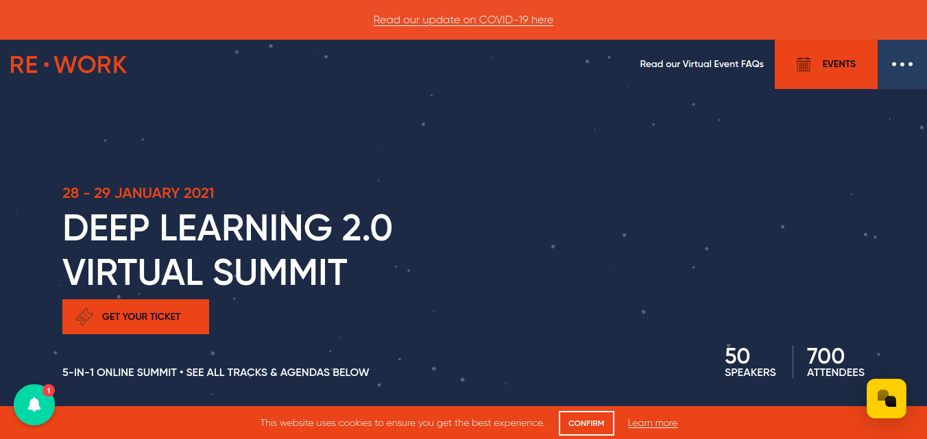 Deep learning virtual summit 2021