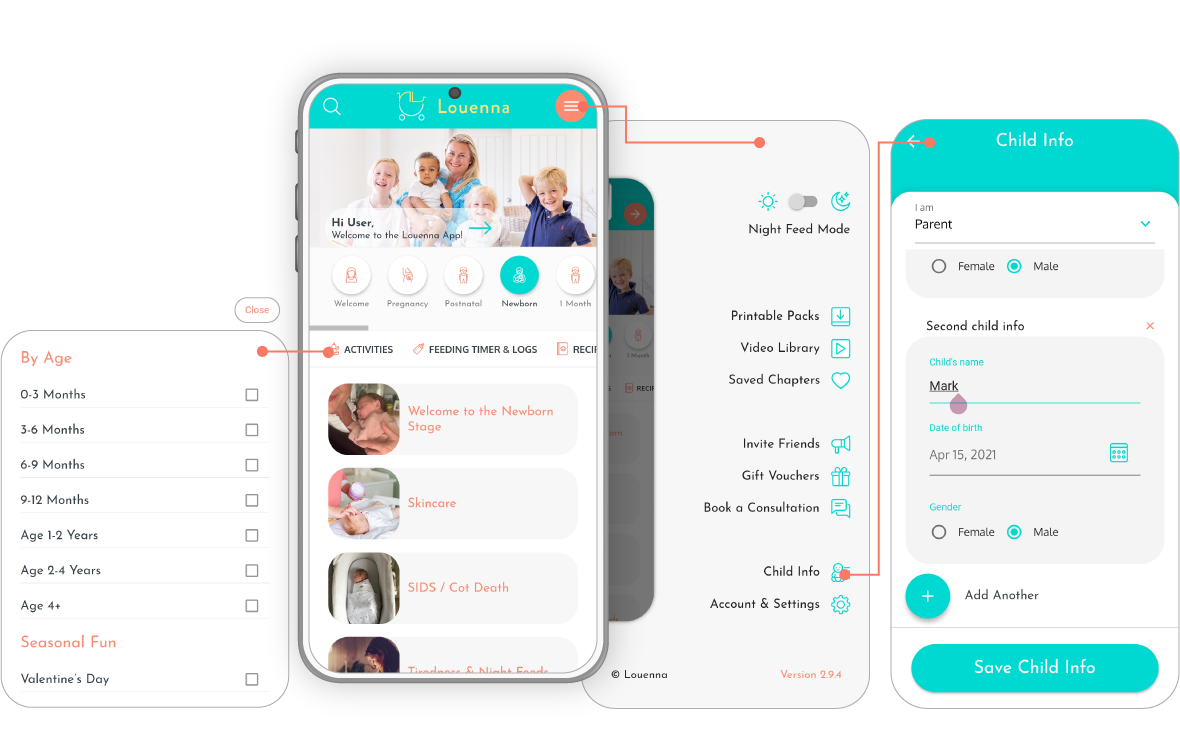 discovery phase parenting app