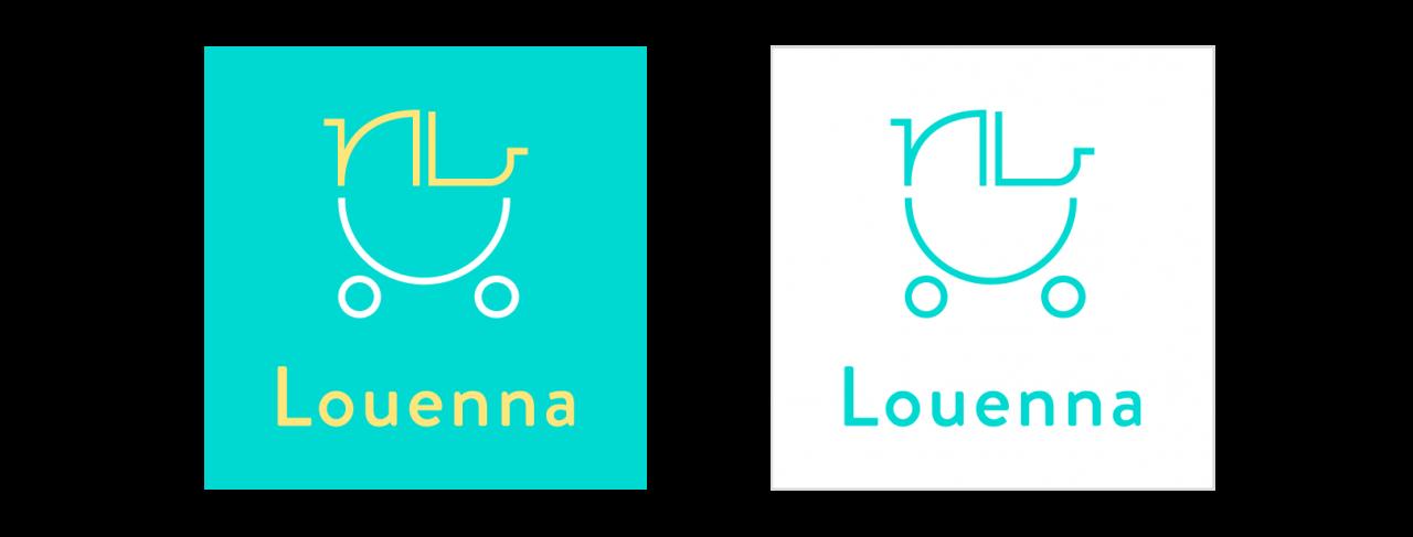 louenna logo design parenting app