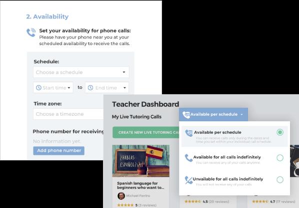 teachers availability